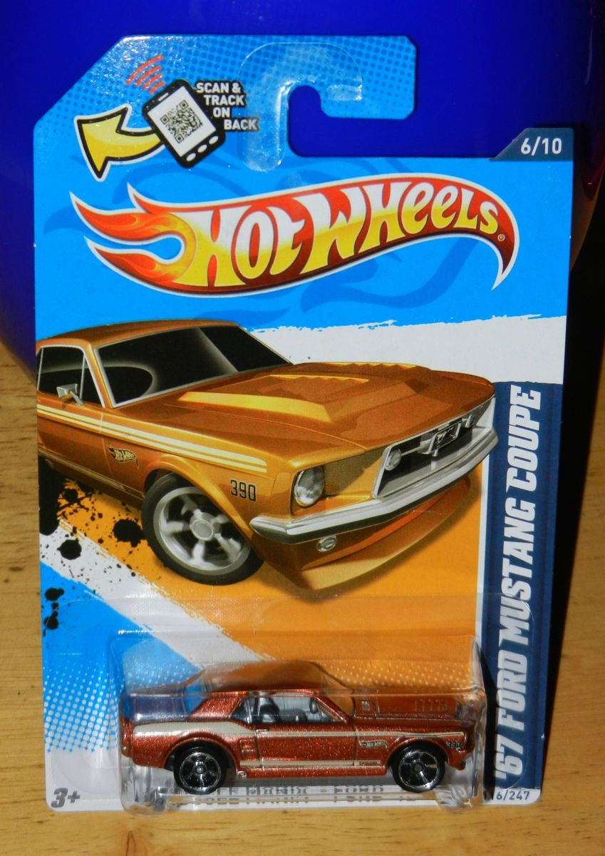 2012 Hot Wheels 67 Ford Mustang Coupe All Small Wheels ASW Error