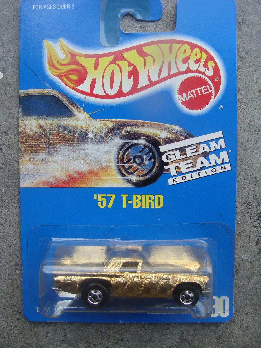 1992 Hot Wheels 190 57 T Bird Gleamer Gold