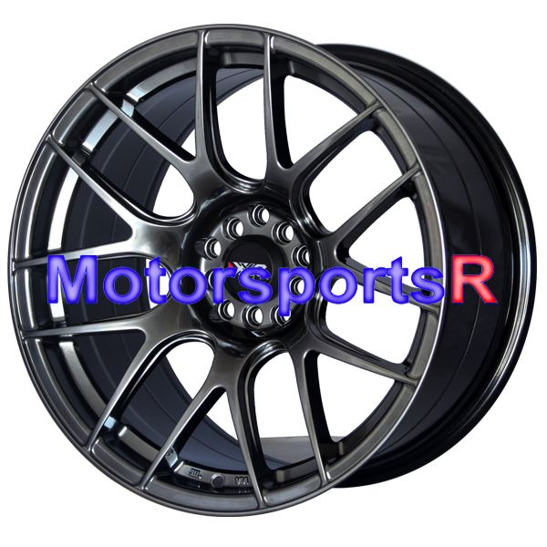 Chromium Black Concave Rims Staggered Wheels 90 91 96 Nissan 300zx TT