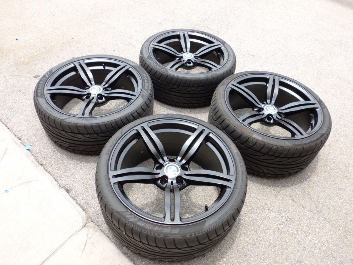 19 Matte Black BMW M Style Wheels Rims Tires BMW E90 E92 3 Series