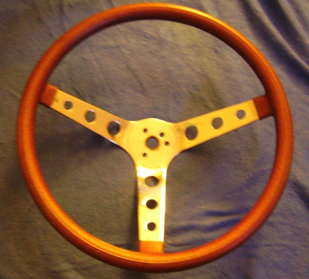 14 5 Red Metalflake Rim Steering Wheel Moon Hot Rat Rod Used Patina