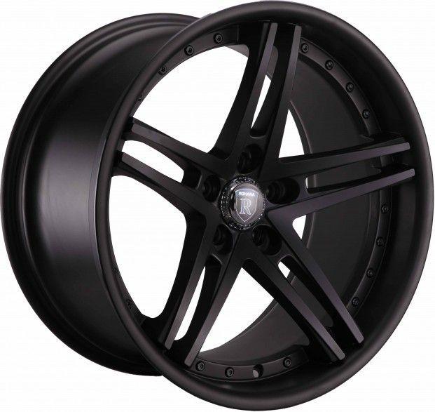 19 Rohana RC5 Staggered Wheels 5x120 Matte Black Rim Fits BMW 550i M5