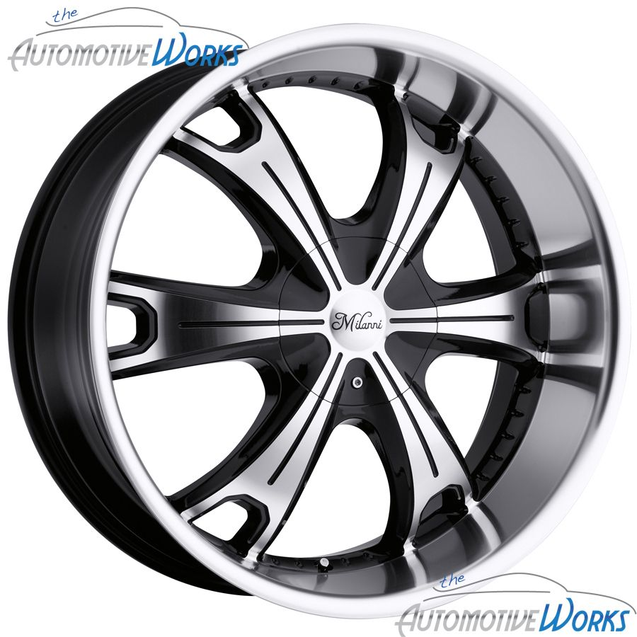 Milanni Stellar 6x139 7 6x5 5 18mm Black Machined Wheels Rims Inch 18
