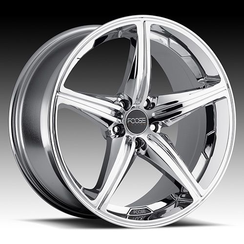 22 x9 FOOSE Speed F135 Chrome 5 Lug Wheels Rims