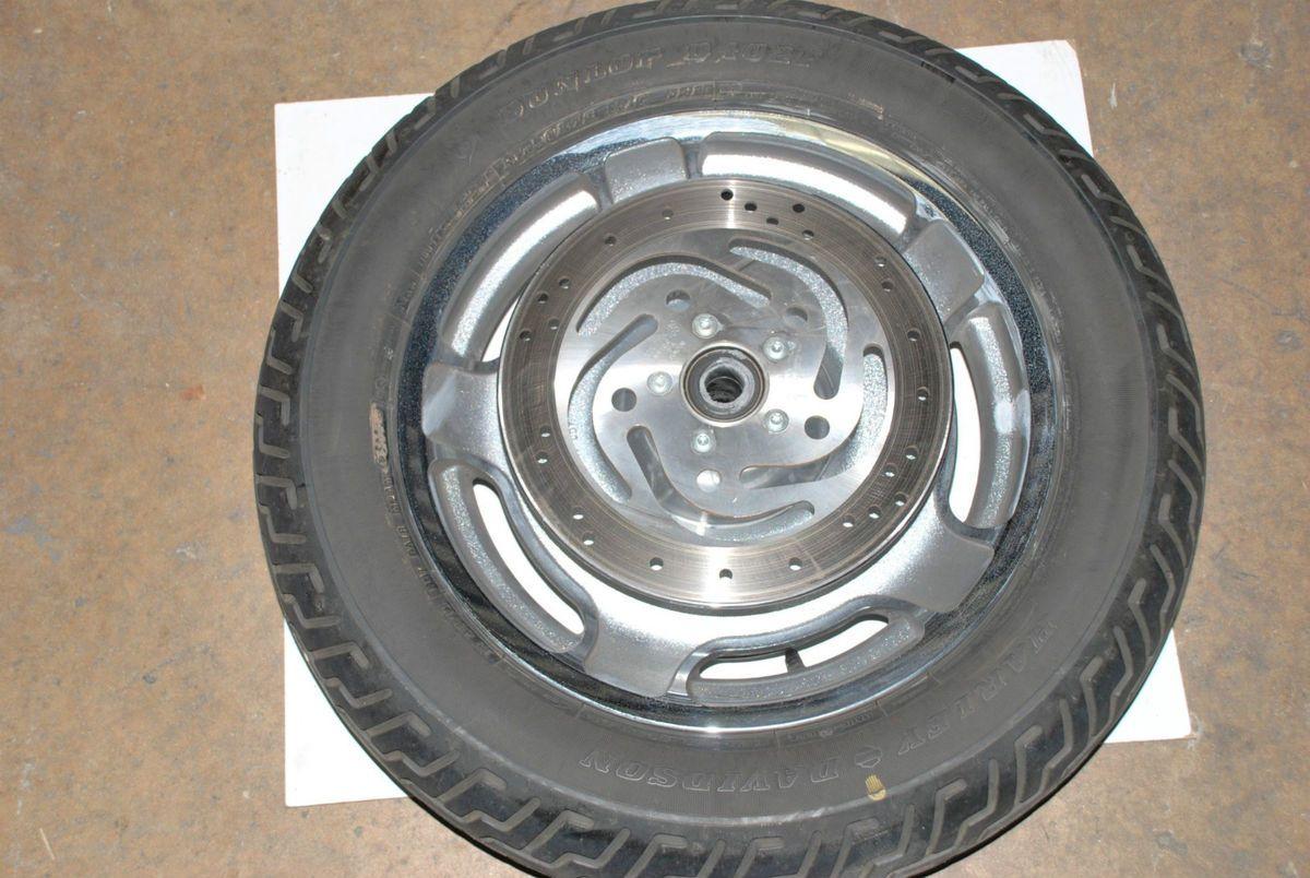 Harley Davidson Touring Front Wheel Rim Tire Rotors Used