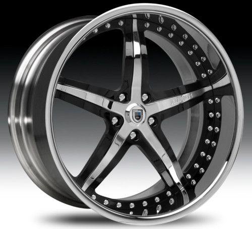 20 asanti AF156 Black Chrome Wheels Rims 2 Piece Tone