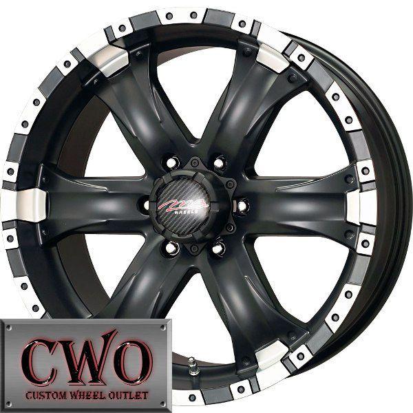 15 Black Chaos 6 Wheels Rims 6x139 7 6 Lug Titan Tundra GMC Chevy 1500