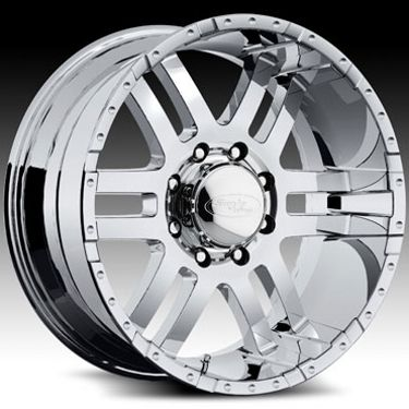 20 Wheels Rims American Eagle Wheels Chrome Chevy GMC 2500 3500 Ford