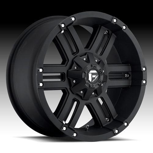 FUEL WHEELS 20 X 9 GAUGE BLACK CHEVY SILVERADO GMC SIERRA 2500HD DODGE