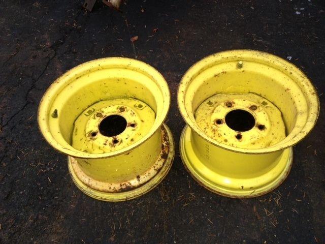 For John Deere Garden Tractor Wheel Rims : John deere garden tractor rear wheels wide