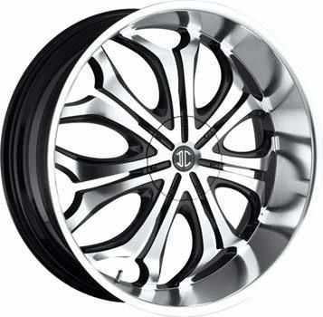 5x114 3 5x127 ET18 Black Machined Chrome Lip Wheel 1 New Rim