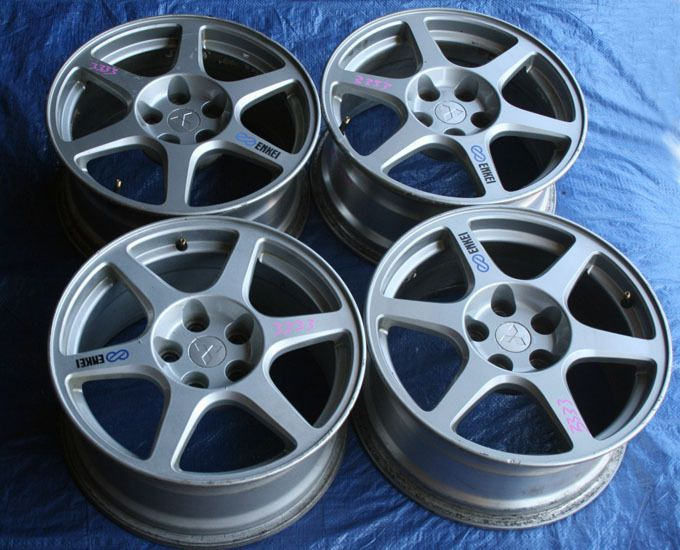 04 05 Lancer Evolution 8 GSR 17 Enkei Rims Wheels evo8 RS CT9A