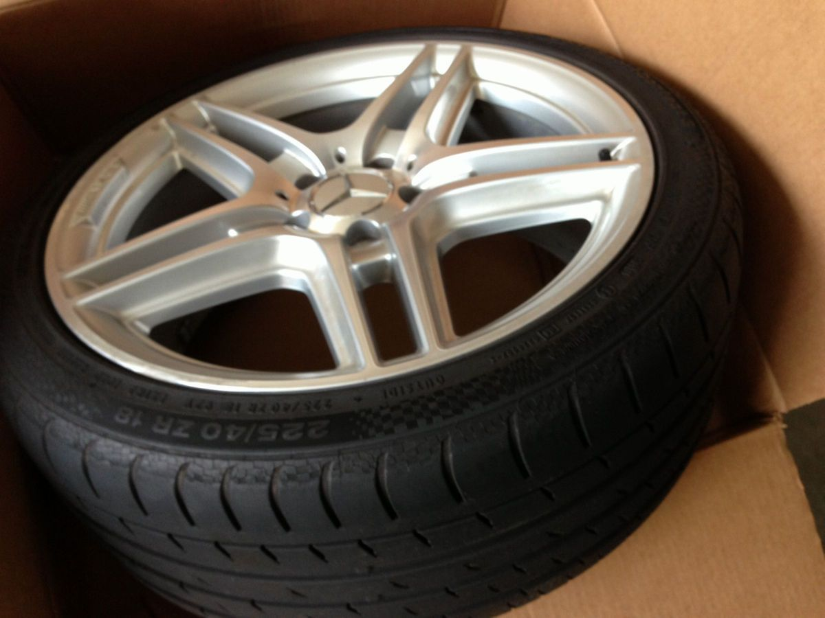 2012 Mercedes AMG C E S Class factory staggered Wheels Rims with Tires