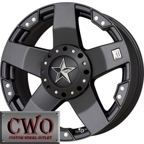 18 Black XD Rockstar Wheels Rims 8x165 1 8 Lug Chevy GMC Dodge 2500